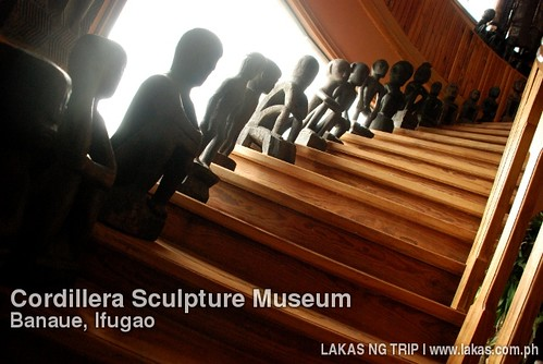 Bululs on the stairs of Cordillera Sculpture Museum in Banaue, Ifugao
