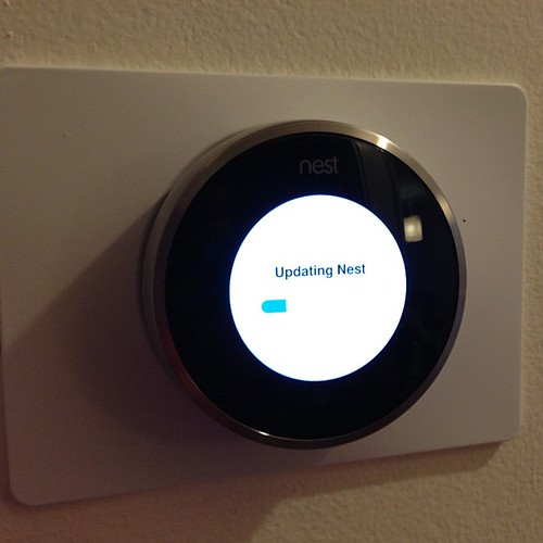 Installing our new thermostat. Never been so excited by a thermostat.