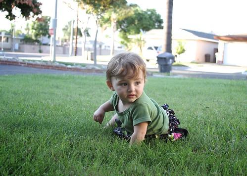 Alice in the grass