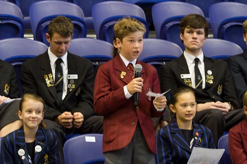 In the ceremony staged to welcome the ACC-15 members to Auckland, local children asked challenging questions to three of the Primates