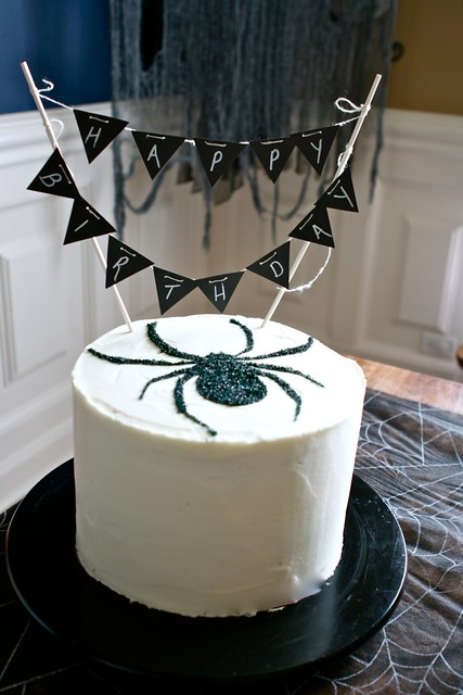 Spider Halloween Birthday Cake