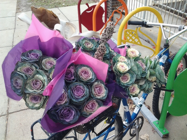last farmers market - bike basket