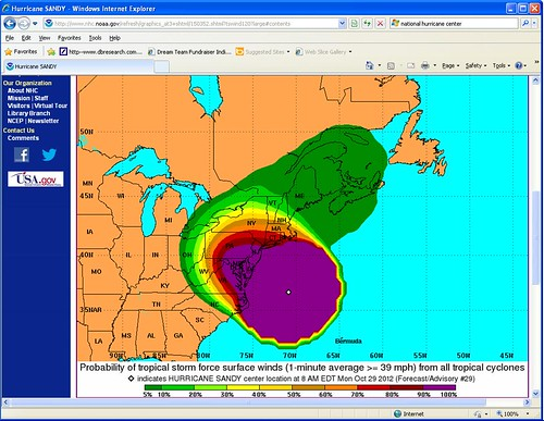 Hurricane Sandy (2012): 60 km Wind Area Forecast