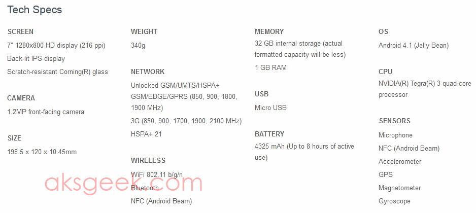 Nexus 7 with HSPA+
