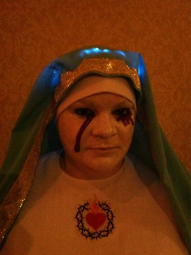 Weeping Virgin Mary by shefightslikeagirl