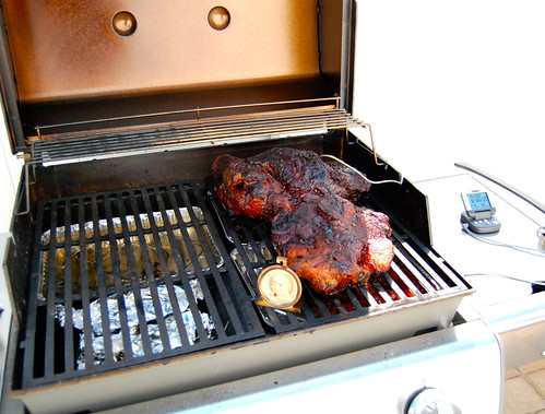 smoking pork shoulder