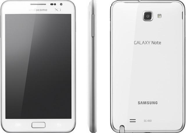GALAXY Note SC-05D 実物大の製品画像
