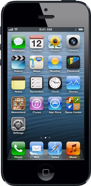 iPhone 5 実物大の製品画像