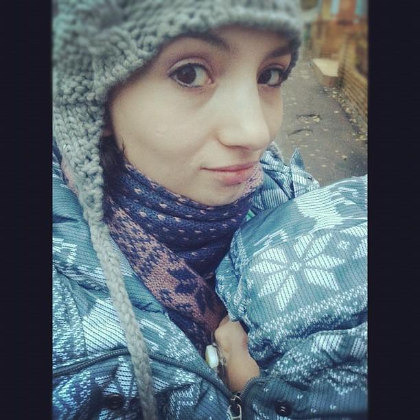 Носим зимнюю куртку в плюс-сил нет ждать минуса:))