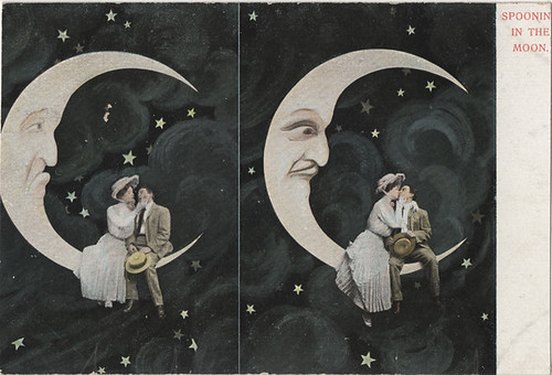 Spooning in the Moon - Comic Postcard #2