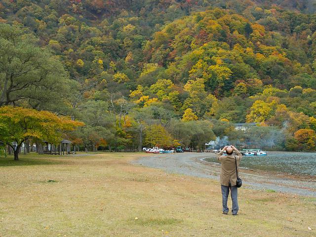 秋の記念写真