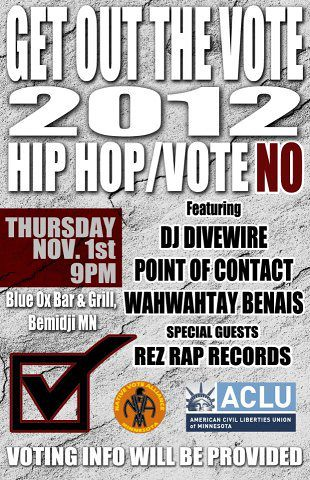 Thursday, Nov 1st Hip Hop Vote No w/ RezRap