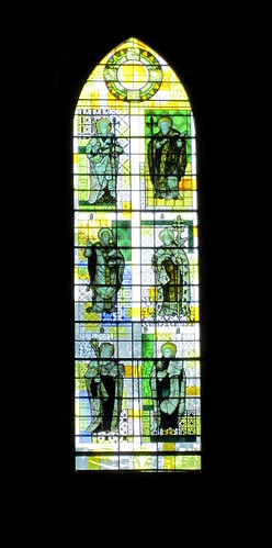 stained glass in Ripon Cathedral, Yorkshire