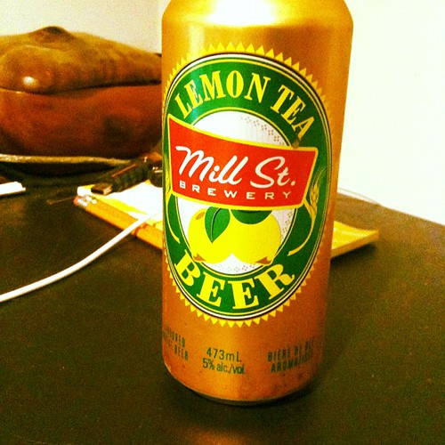 Pretending it's still summer with a @millstreetbrew lemon tea beer. So tasty! #365