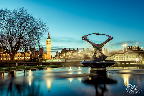 city uk blue houses light sunset england sky house reflection london clock water fountain silhouette lights big twilight europe cityscape ben parliament gb whitehall westminister flickrtravelaward