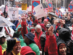CWAers and other public workers in NJ stand up for bargaining rights.