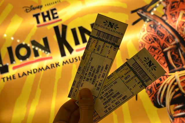 Entradas para el musical del Rey León en Broadway Nueva York