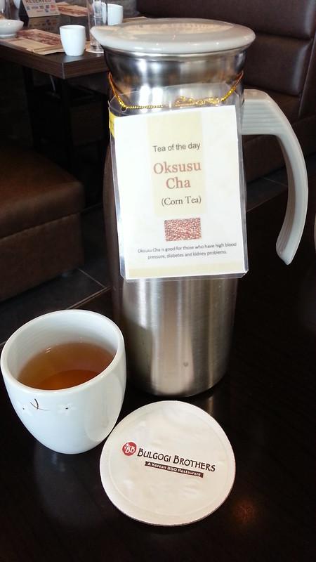 Corn Tea at Bulgogi Brothers SM Lanang Premier