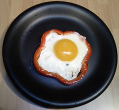 Uovo al tegamino e peperone / Fried egg and pepper