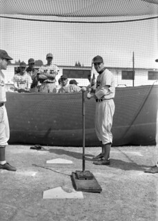 Batting Pratice at Brooklyn Dodgers Spring Training: Vero Beach, Florida