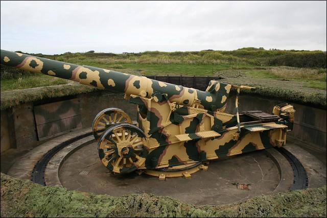 Gun on Pleinmont Headland, Guernsey