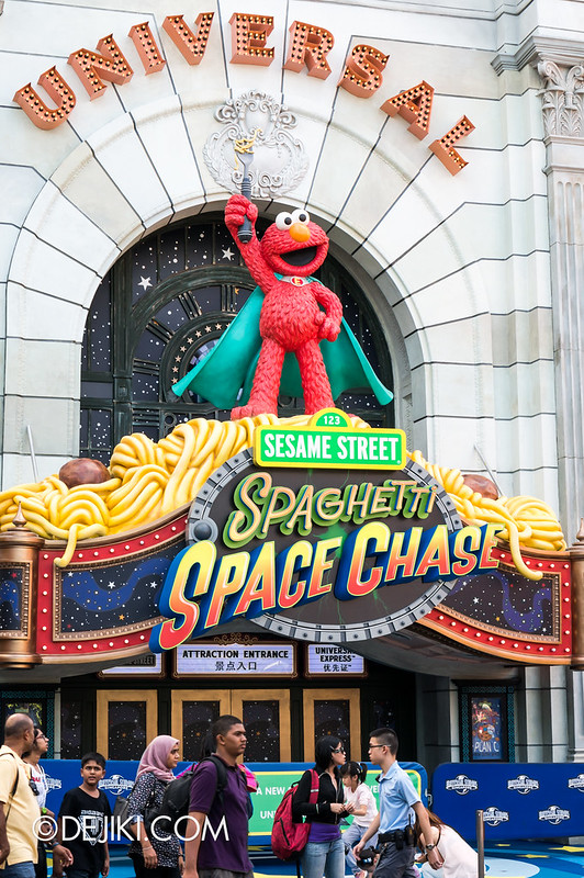 Sesame Street Spaghetti Space Chase (SSC) Entrance