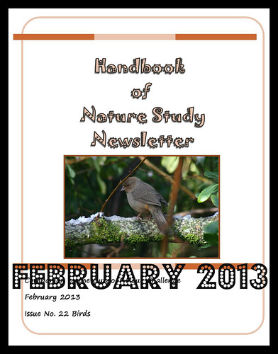 Handbook of Nature Study Newsletter Feb 2013