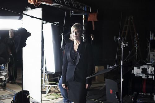 Julia Otero segundos antes de una entrevista