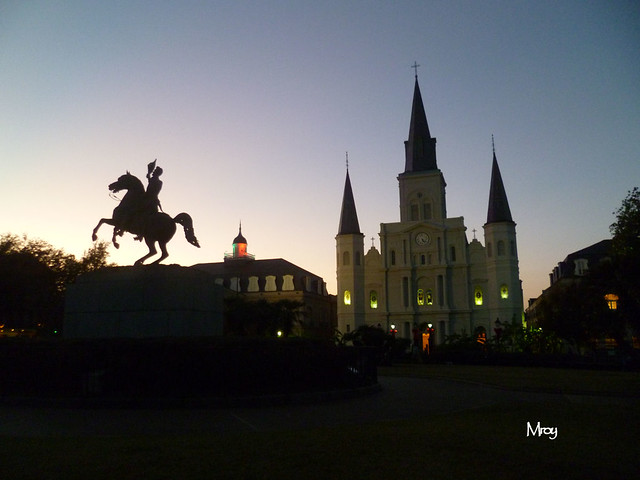 St. Louis Cathedral as seen from Jackson Square.