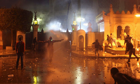 Egyptian demonstrations on February 1, 2013. Revolutionaries are demanding a full adoption of the aims of the 2011 uprising. by Pan-African News Wire File Photos