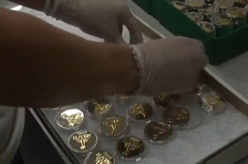 superbowl coin being made
