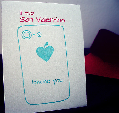 iphone you Valentine card