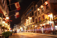 St-Paul street at night - Old Montreal