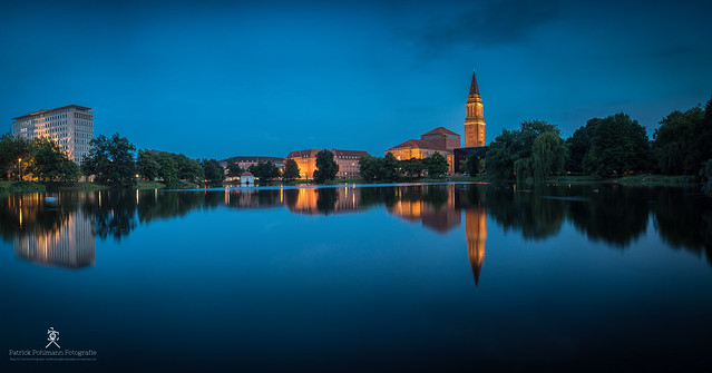 44,2 Megapixel Panorama Shot - Blue Hour Kiel
