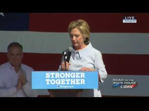 Hillary Clinton Started To Cough Violently In Cleveland, Ohio