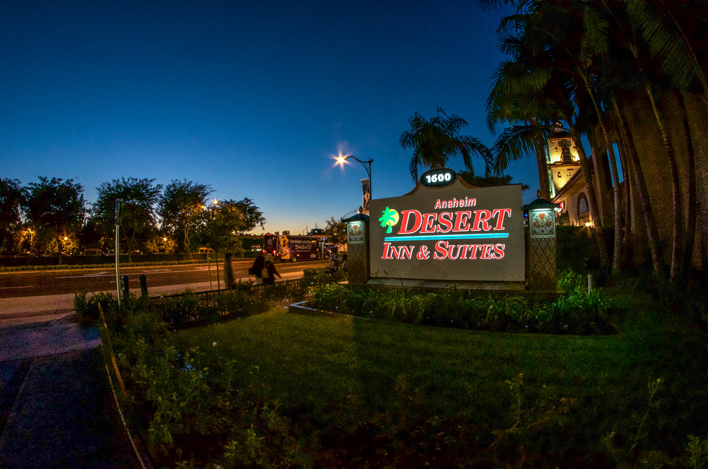 Desert Inn sign sunset