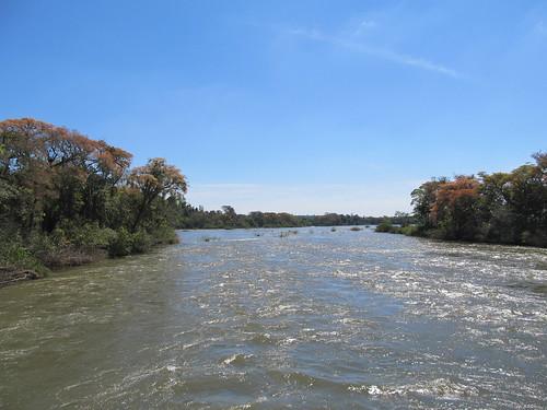 Les chutes d'Iguazu: sur la passerelle en direction de la Garganta del Diablo