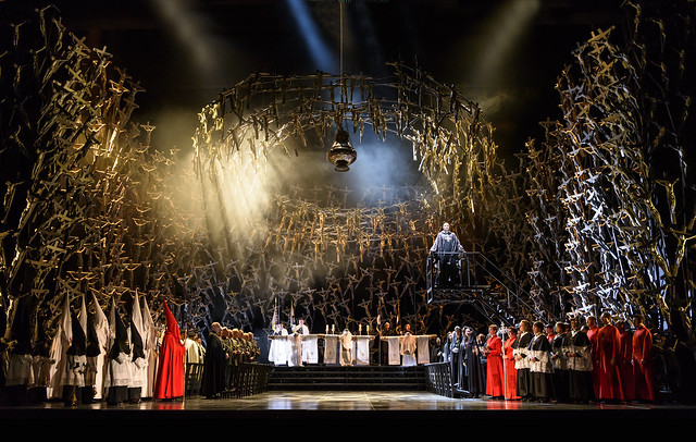 Production photo of Àlex Ollé's Norma, The Royal Opera © 2016 ROH. Photograph by Bill Cooper
