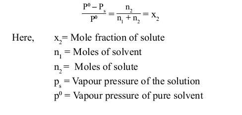 CBSE Class 12 Chemistry Notes: Solutions - Raoult's Law ...