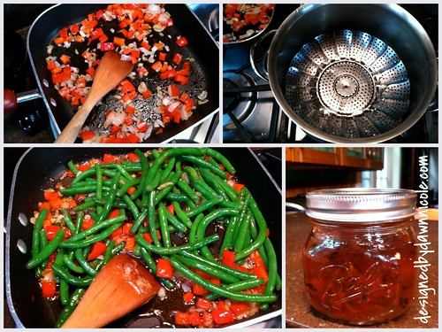 Crunchy Honey Mustard Baked Salmon with Pepper Jelly Green Beans ...