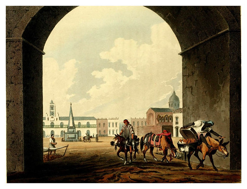 006-La plaza de Buenos Aires desde el arco de la Recova-Picturesque illustrations of Buenos Ayres and Monte Video..-1820- Emeric Essex Vidal