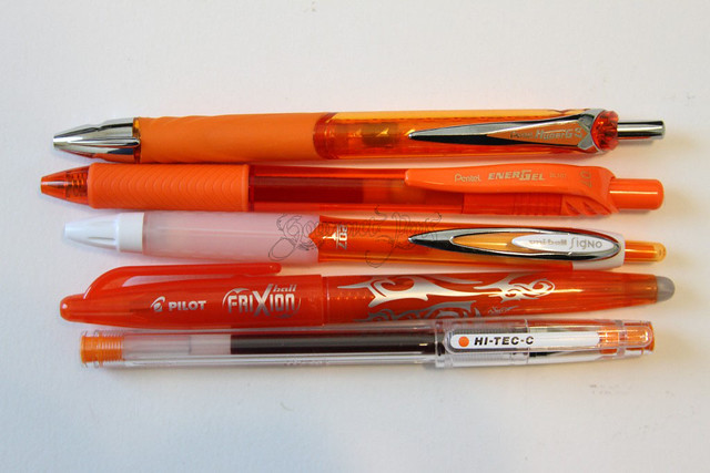 Pentel Hyper G Orange Pens