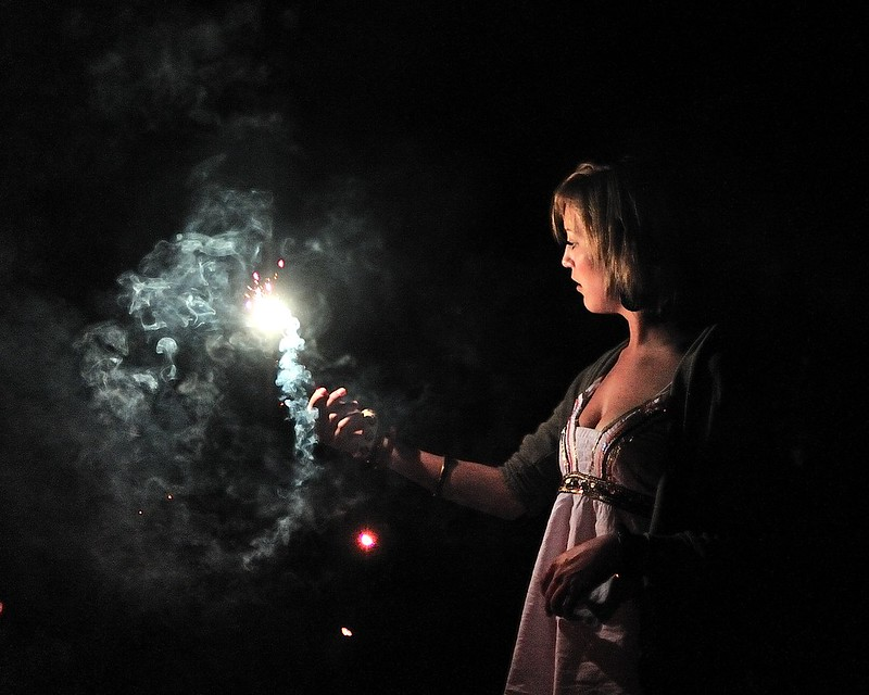 Nicole with sparkler