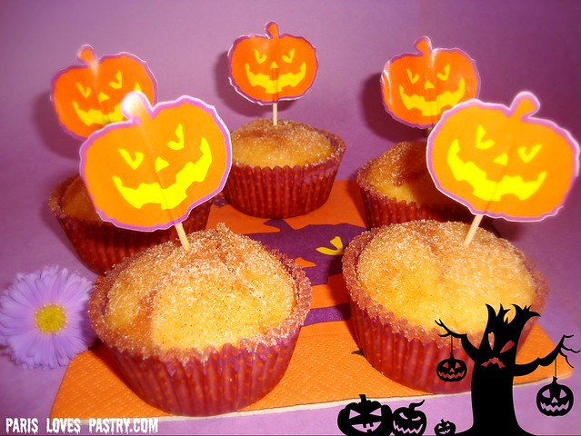 Halloween Prune-Filled Donut Muffins