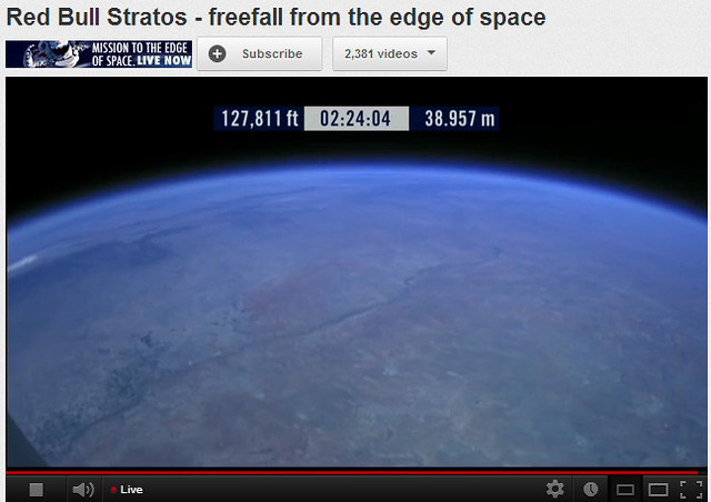 view of earth from 127000 feet