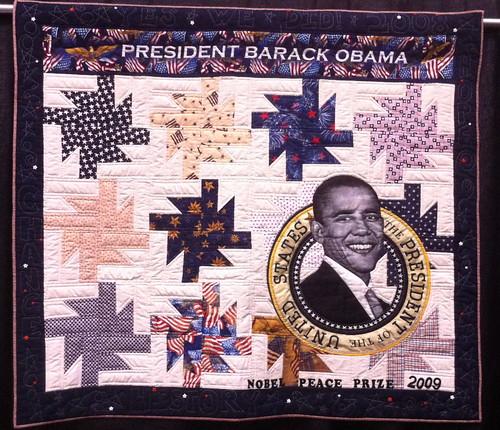 Obama's Star~ Quilt by Allyson Allen