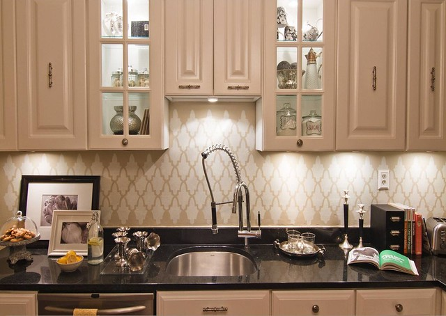 kitchen stencil backsplash wall Flickr Photo Sharing
