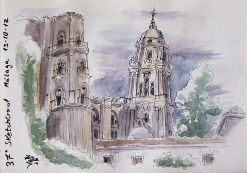 37º Sketchcrawl Catedral Málaga 13.10.12