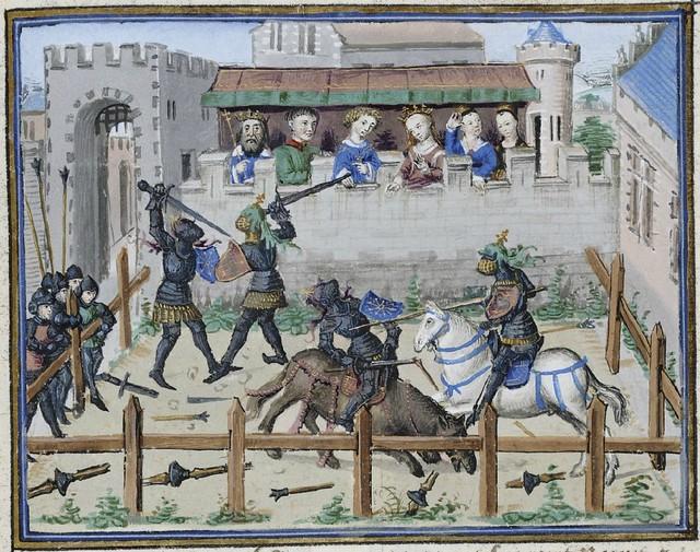 15th century illuminated manuscript miniature: Henri de Ferrières, Les Livres du roy Modus et de la royne Ratio 290