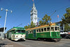 MUNI F-LINE CARS--1006 (E-Line, IB), 496 at Ferry Plaza by milantram